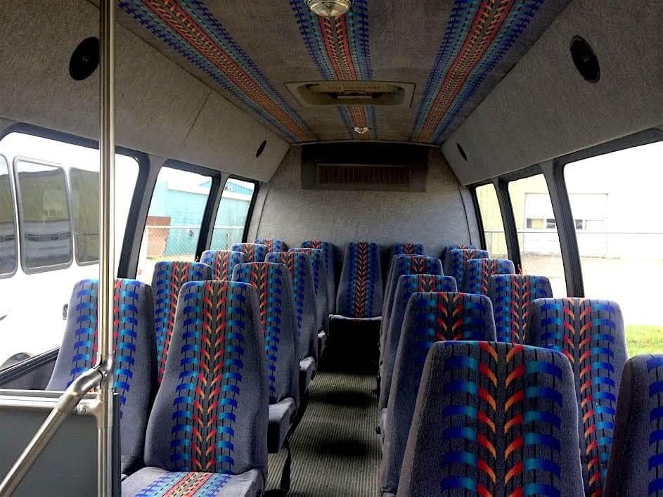 Minibus for 25 passengers inside